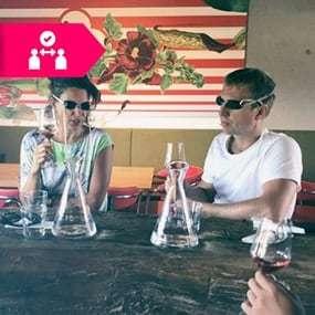 Regionale Blindverkostung Covid-19-Safe für Teambuilding Event