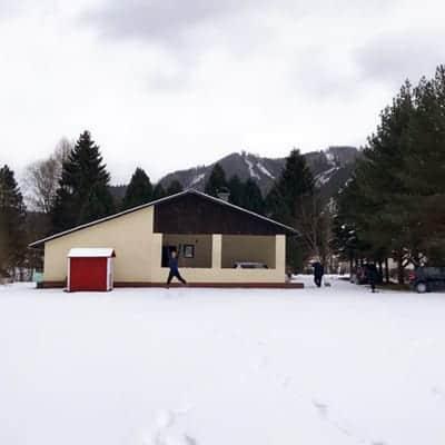 Haus in Oberzeiring in Winterlandschaft