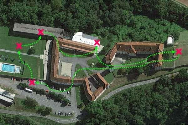 Sinnbildliche Darstellung der Team-Challenge beim Schloss Seggau