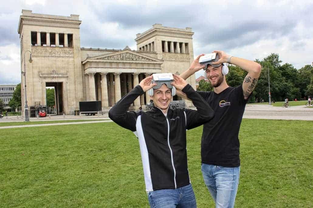 Von Links: Paul Stanzenberger, Philipp Kanceljak von teamazing in München
