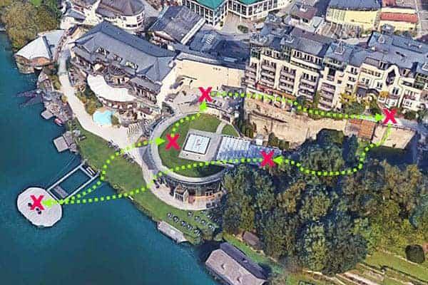 Darstellung des Teambuilding Programmes beim scalaria am Wolfgangsee