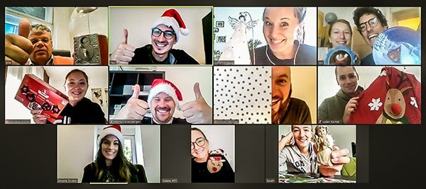 Virtuelle Weihnachtsfeier von teamazing