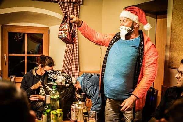 Santa Flo bei der teamazing Weihnachtsfeier