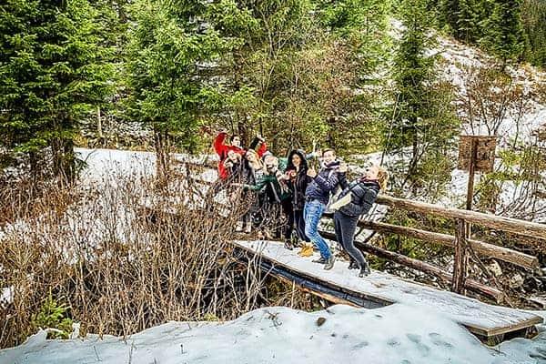 Wanderung bei teamazing Weihnachtsfeier 2018