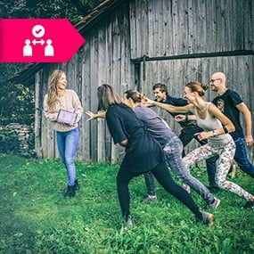 Teambuilding mit Sicherheitsabstand Pulsuhren - Beat The Heart