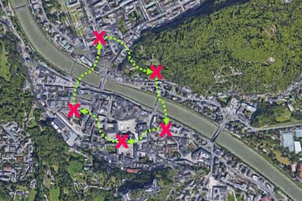 Sinnbildliche Darstellung der City-Challenge in Salzburg
