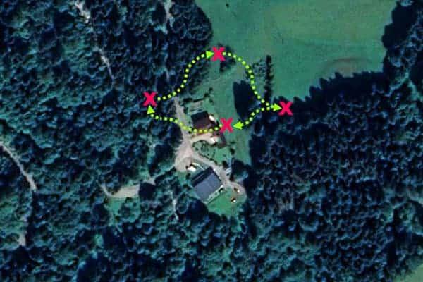 Sinnbildliche Darstellung der Challenge im Waldmomente-Gebiet