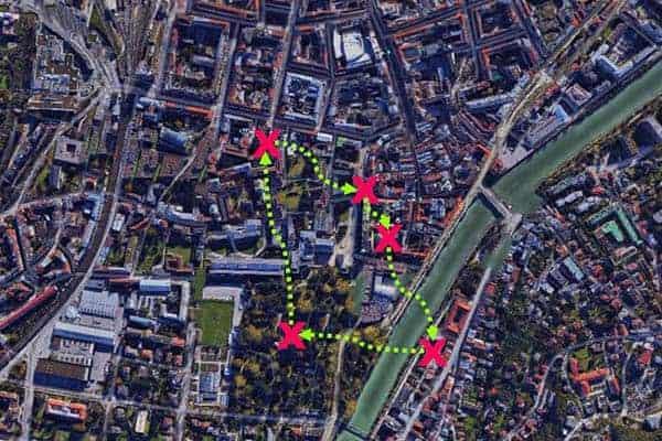 Sinnbildliche Darstellung der City-Challenge in Innsbruck