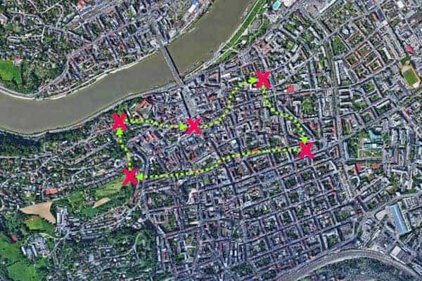 Sinnbildliche Darstellung der City-Challenge Linz