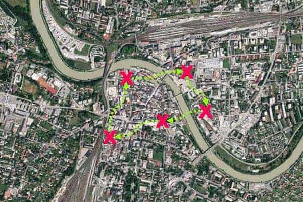 Sinnbildliche Darstellung der City-Challenge Villach