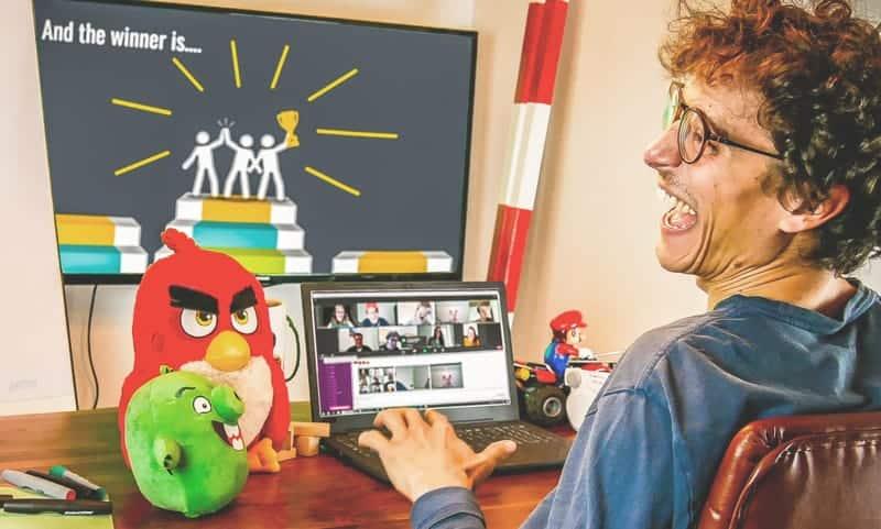 Online Kettenreaktion für lustiges Remote Teambuilding